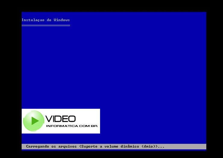 Iniciando a Instalacao do Windows